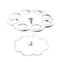 8 отверстий практичная Свадьба «сделай сам» прозрачный конус для мороженого держатель для дома стенд вечерние акриловые дисплей многоразовый съемный выпускной
