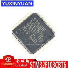 10 pcs/lot STM32F103CBT6 STM32F103 32F103 IC MCU 32BIT 128KB FLASH 48LQFP