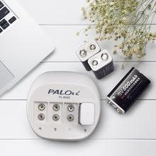 パロスーパークイック電源 4 スロット 9 9v 6f22 用 12v バッテリー充電器リチウムイオン充電式バッテリー led ディスプレイスマート充電