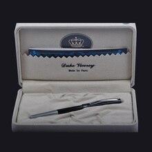 ألمانيا ديوك الحبر الأسود متوسط الملء قلم حبر جاف المرأة الكتابة الرول الكرة القلم مع صندوق الأصلي مكتب واللوازم المدرسية