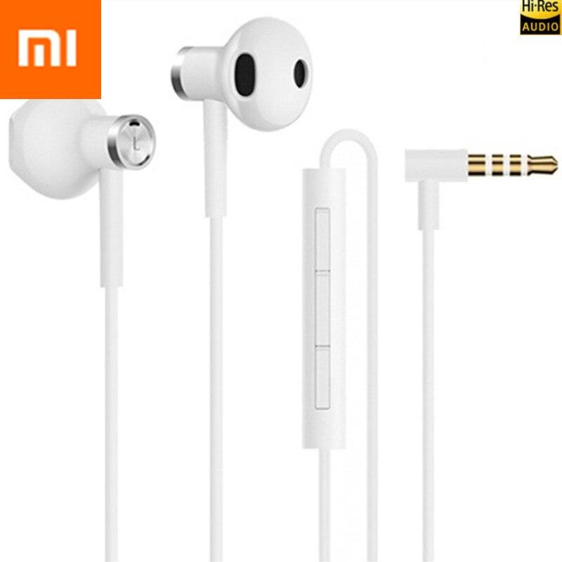 Xiaomi mi driver duplo 3.5mm fones de ouvido com microfone hi-res fones de ouvido de áudio para mi 9 t pro 3 s 4 cc9 cc9e a3 redmi k20 pro 6a 8