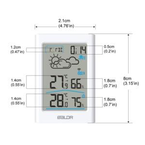 Image 5 - Weather Station Digital Thermometer Hygrometer Wireless Sensor Forecast Temperature Watch Wall Desk Alarm Clock