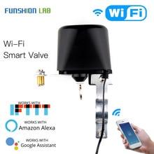 Válvula inteligente Wifi para automatización del hogar, Control de válvula para Gas o agua, Control por voz, funciona con Alexa Echo y Google Home