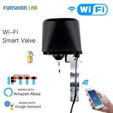 Умный клапан Wi Fi для домашней автоматизации, система управления клапаном для газа или воды, голосовое управление, работает с Alexa Echo Google Home