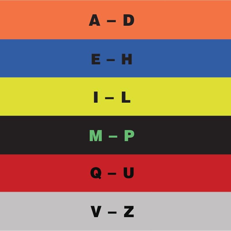 Жанровый записной Органайзер с разделителями таб акриловые карты для проигрывателя хранения записных альбомов Организации - Цвет: 6PCS Alphabetical