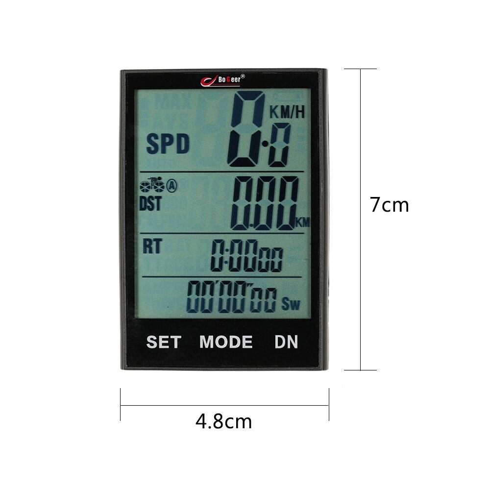 Compteur de vitesse compteur de vitesse vélo résistant à l'eau sans fil avec rétro-éclairage de la température pour le cyclisme