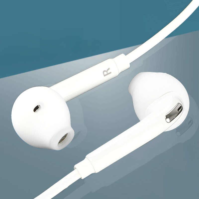In-Ear Oortelefoon Wit Voor Samsung Galaxy S6 Bedrade Headset Met Microfoon 3.5Mm Jack Hoofdtelefoon Voor Mobiele Telefoon verstelbare Volume 80%