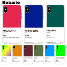 Coreia Do ins Babaite Pantone Cor Doce Suave silicone TPU Phone case para Apple iPhone 8 7 6 6S Plus X XS max 5 5S SE XR Tampa(China)