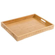 TOP!-Bamboo Tray Square Bamboo Wooden Rectangular Plate Steak Fruit Snack Tea Restaurant Storage Solid Wood Boa
