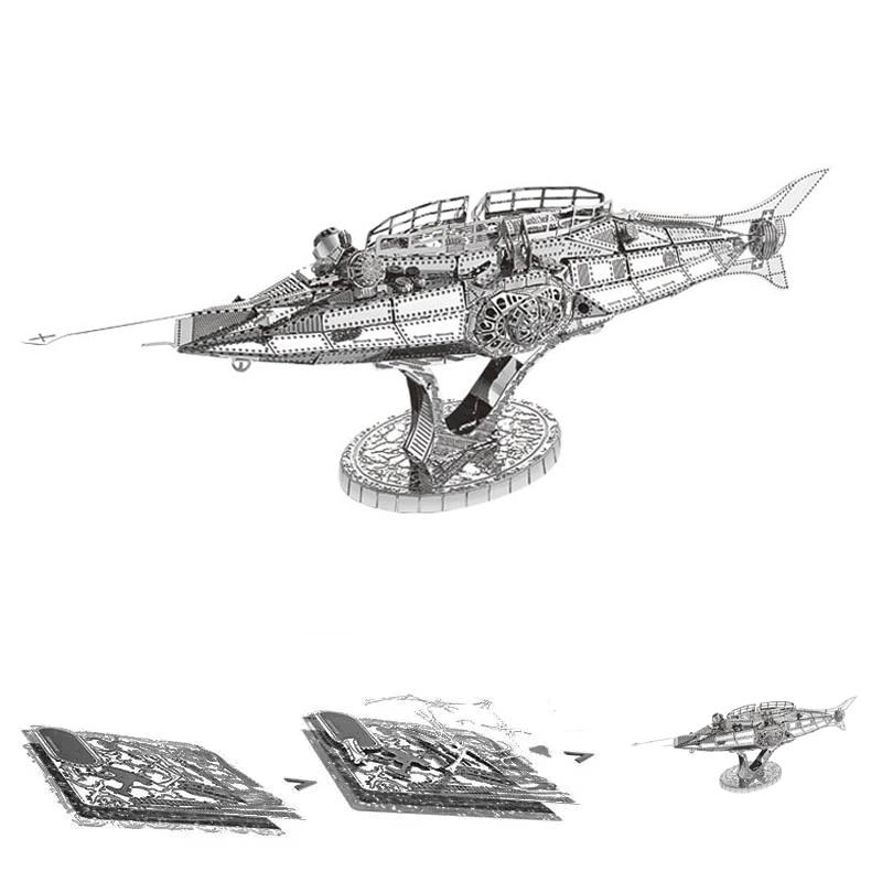 Warship Boat Submarine 3D Metal Puzzle Model Kits DIY Laser Cut Assemble Jigsaw Toy Desktop Decoration GIFT For Children