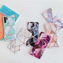 For Huawei P30 Pro Case Fashion Geometric Purple Marble Cover for Etui P20 Lite Mate 20 30 Silicon