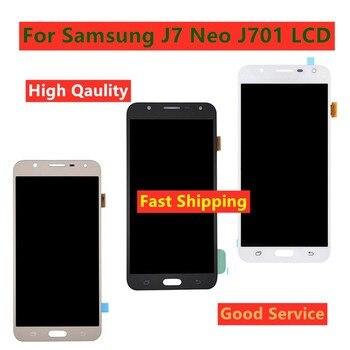 Para Samsung Galaxy J7 neo J701 J701F J701M J701MT LCD pantalla táctil digitalizador montaje de pantalla para J701 LCD reemplazo de pantalla