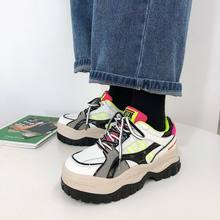 Women chunky sneakers 2020 autumn fashion sports casual shoes