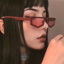 Red Sexy Punk Square Frame Ladies Women Sunglasses Shades Vintage Pink Lens Outd
