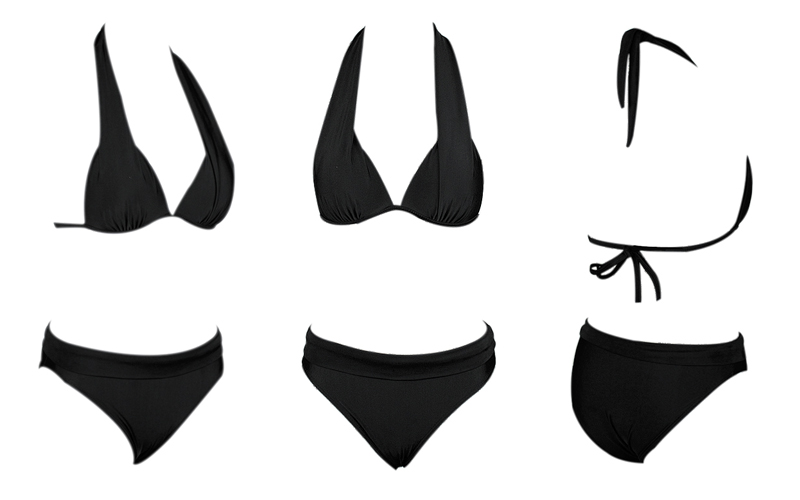 Бикини пуш-ап, женский купальник из двух частей, высокая талия, черный, розовый, бикини, набор размера плюс, купальники, пляжные купальники, бикини 2XL
