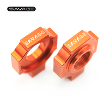цена на Chain Adjuster Regulator Sliders For KTM MXC EXC-G SXS SX-F SX 85 125 150 250 350 380 400 450 520 525 540 Motorcycle Accessories