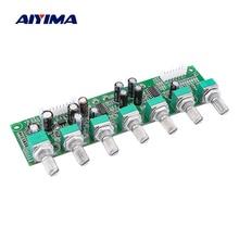 AIYIMA 5.1 เครื่องขยายเสียง Preamplifier Preamp 6 ช่อง Bass ความถี่ปริมาณอิสระปรับสำหรับ 5.1 โฮมเธียเตอร์