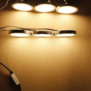 Image 5 - 3/4/6/8 Cái Dưới Tủ Đèn Điều Khiển Từ Xa Âm Trần LED Bếp Dưới Phản Tủ Trưng Bày tủ Quần Áo Đèn Đèn Ngủ
