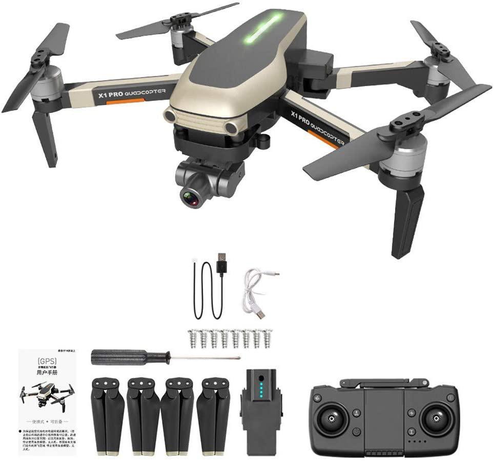 X1 PRO GPS RC Drone 4k 120 ° Wide Angle WiFi FPV HD Camera Selfie Two-Axis Mechanical Gimbal GPS Follow Me Low-Power Home