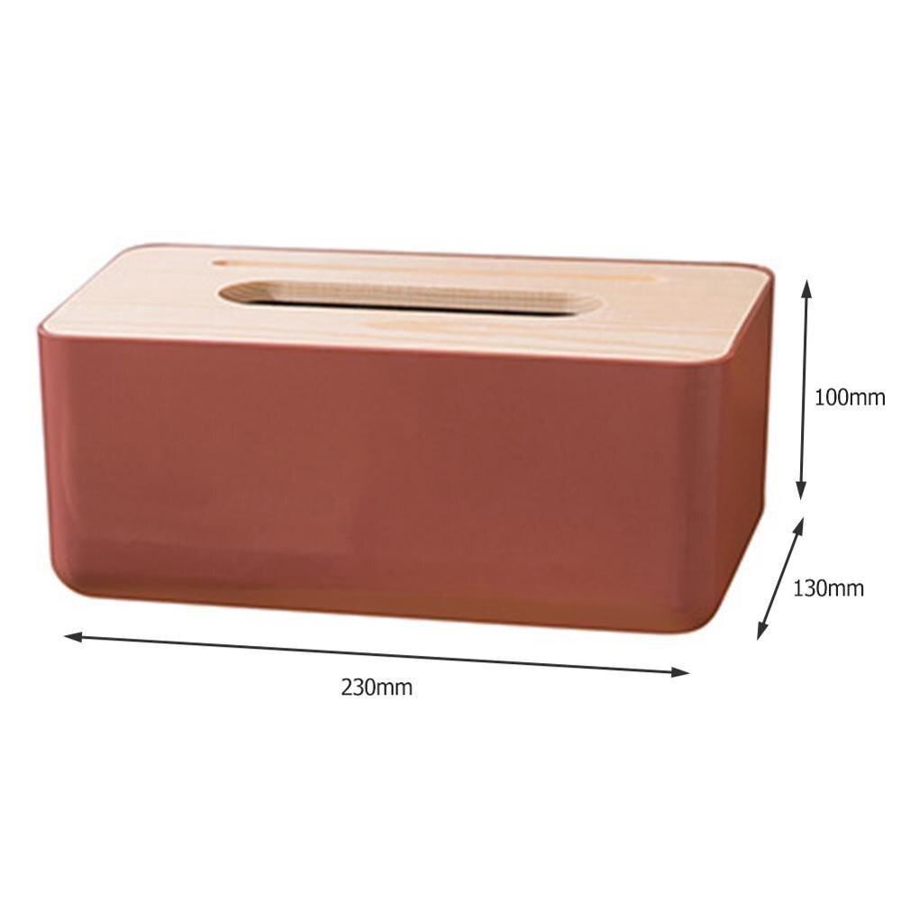 Многофункциональная Пластиковая Коробка для салфеток в скандинавском стиле, чехол для бумажных полотенец, органайзер для домашнего стола, товары для дома - Цвет: 5