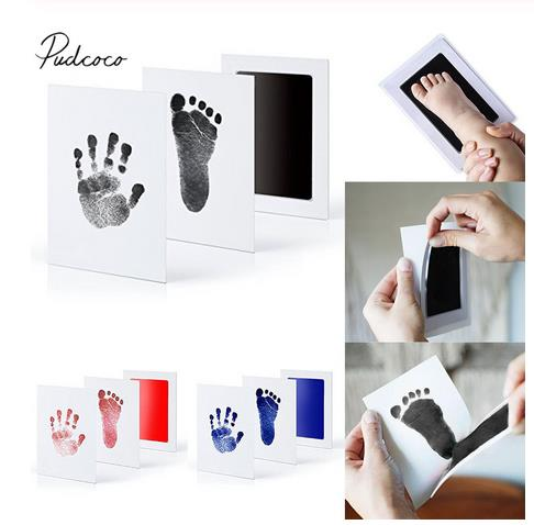 2019 Brand New Baby Paw Print Pad Foot Photo Frame Touch Ink Pad Baby Items Souvenir Gifts 1 Printing Oil +2 Sheets Of Paper