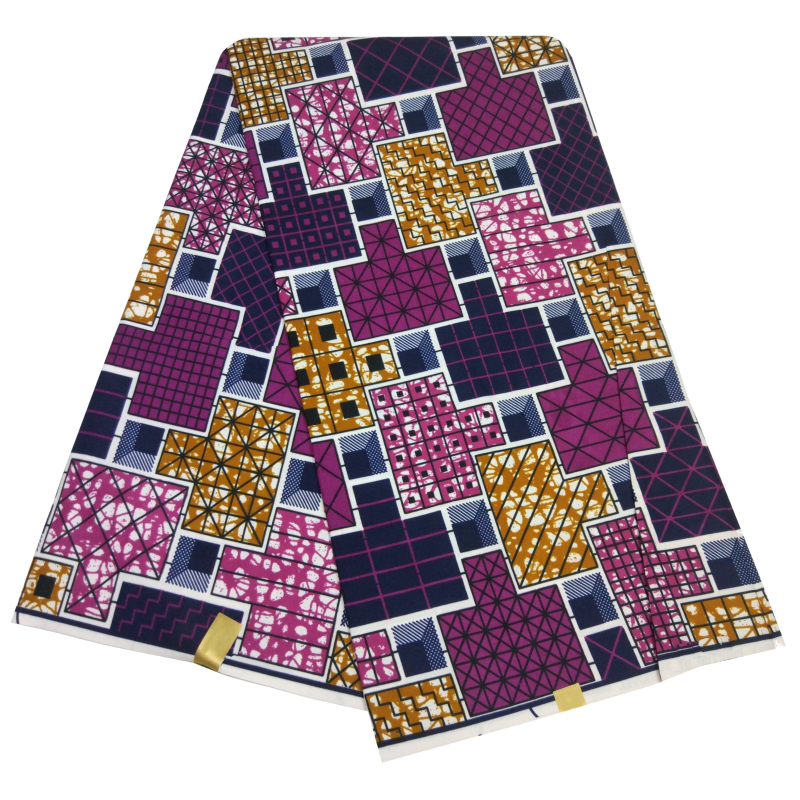 2019 New African Ankara Fabrics Tissu African Batik Nigeria Wax Colorful Print Fabric Veritable Wax Fabric For Lady
