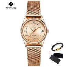 reloj mujer New WWOOR Women Bracelet Watches