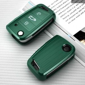 Image 1 - Car Key Case Cover For Volkswagen VW Polo Golf 7 MK7 Tiguan passat For Skoda Octavia  Kodiaq Karoq For Seat Ateca Leon Key Bag