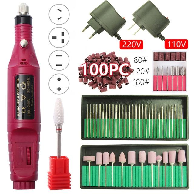 20000RPM Elektrische Nagel Bohrer Maschine Maniküre Bohrer Maschine Pediküre Bohrer Tragbare Nagel Bohrer Maschine Nagel Salon Bohrer Maschine