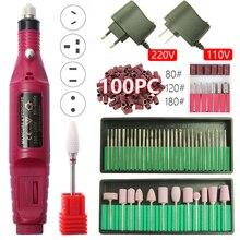 Máquina pulidora eléctrica para uñas, taladro portátil para manicura y pedicura, 20000RPM