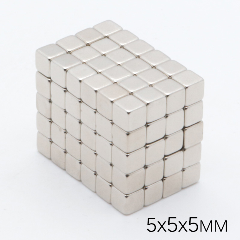 500pcs <font><b>5x5x5</b></font> mm Mini Grade Super Strong Powerful <font><b>Magnet</b></font> Block NdFeB 5x5x5mm Cuboid Rare Earth <font><b>Neodymium</b></font> permanent <font><b>Magnets</b></font> image