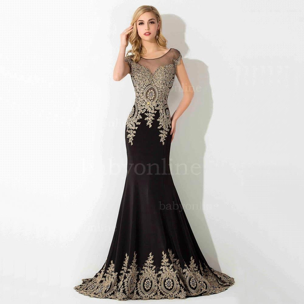 Stock Clearance Sexy Tulle Mermaid Lace Long Evening Dress Luxury Beaded Crystals Evening Gown Robe De Soiree Longue