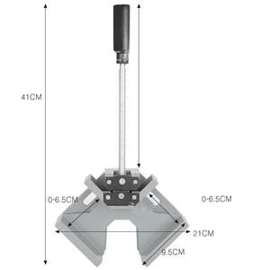 Image 5 - Lassen Aluminiumlegering Vice Twee Axis Frame Enkele Handvat Map Clip 90 Graden Handgereedschap Haakse Clamp Houtbewerking Hoek