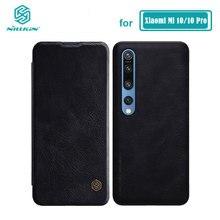 Xiaomi Mi 10 Case Nillkin Qin Serie Pu Leather Flip Cover Case Voor Xiaomi Mi10 Lite Mi 10T Pro 5G