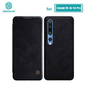 Image 1 - Xiaomi Mi 10 Case Nillkin Qin Serie Pu Leather Flip Cover Case Voor Xiaomi Mi10 Lite Mi 10T Pro 5G