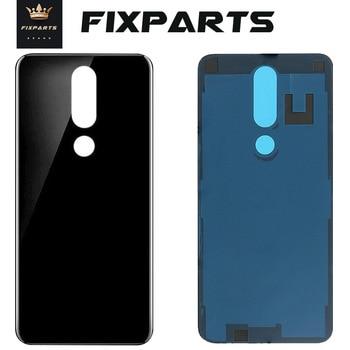 Перейти на Алиэкспресс и купить Для Nokia 5,1 Plus 6,1 плюс 8,1X7 TA-1102 TA-1105 TA-1108 TA-1109 TA-1112 TA-1120 1199 Стекло задняя панель корпуса Батарея крышка