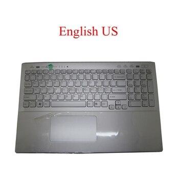ノートパソコンのパームレスト私達とslバックライトキーボードソニーvaio SVS15 タッチパッドスロベニア英語大文字新