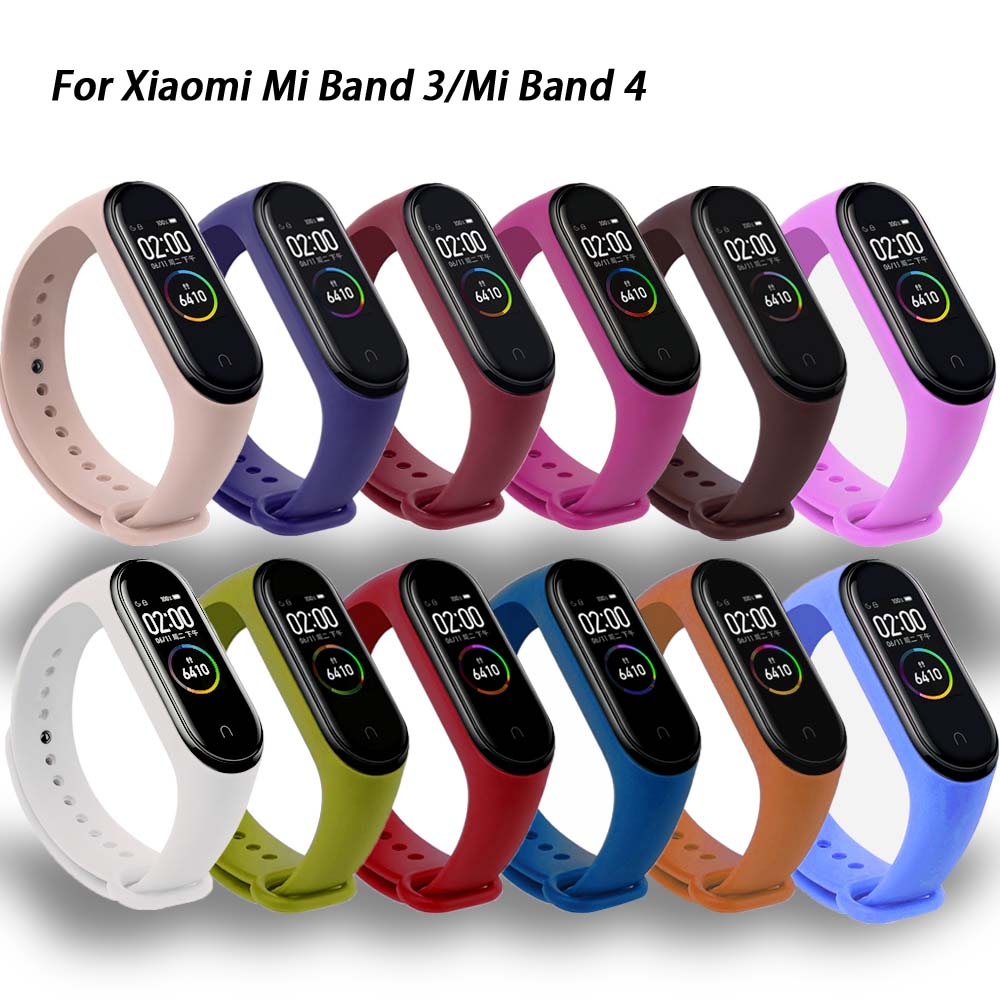 For Xiaomi Mi Band 4 3 Silicone Pink Replacement Wristband Bracelet Watchband For Xiomi Mi Band3 Miband 4 3 Band4 Wrist Strap Smart Wristbands Aliexpress