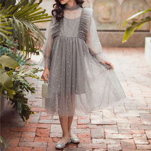 Children's Fashion Lace Mesh Grils Clothes 2021 New Spring Summer Flower Princess Dress Elegant White Lace O Neck Solid Dresses