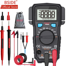BSIDE ADM66 True RMS Digital Multimeter Auto Range TRMS Mini 6000 DMM Dual Slot Capacitance ohm Hz Temp NCV Diode Pocket Tester