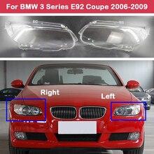Auto Case dla BMW serii 3 Coupe E92 E93 2006 2009 M3 328i 335i 330i samochodu przedni reflektor szklana lampa powłoki obiektywu światła nakrętki na wentyle