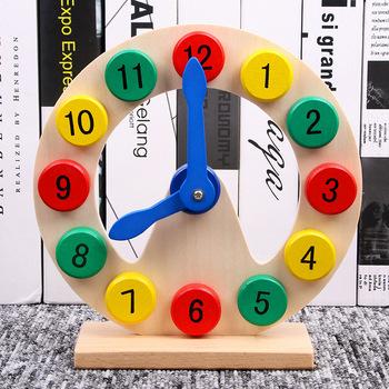 Dzieci Montessori drewniany zegar zabawki poznanie kolorowe zegary zabawki dla dzieci do wczesnej edukacji przedszkolnej nauczanie płytka edukacyjna zabawka tanie i dobre opinie mishatoys none Chiny certyfikat (3C) 2-4 lata Calendar Clock Learning Board Zwierzęta i Natura Wooden Children Time Cognitive Toys
