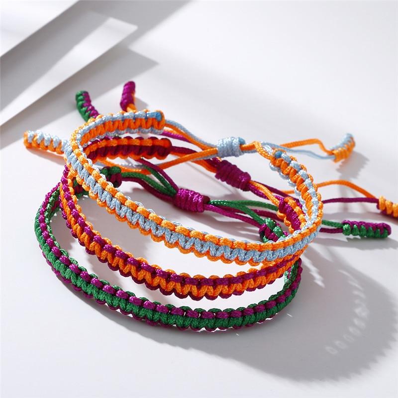 Tibetan Buddhism Hand Weave Knots Budda Rope Bracelet Women Men Love Lucky Charms Yoga Bracelets&Bangles Best Gifts for Friends