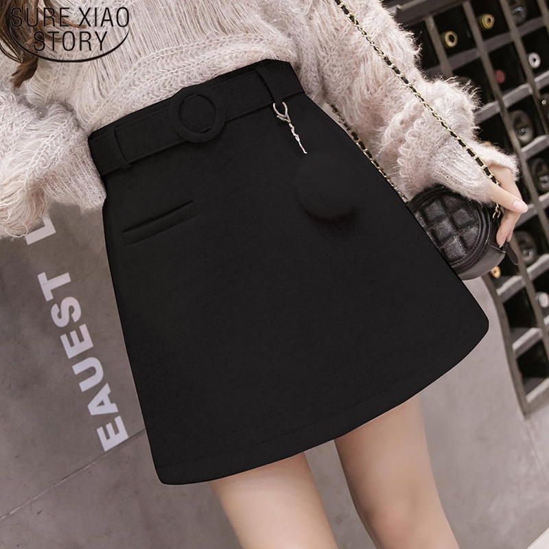 Elegant Leather Shorts Fashion High Waist Shorts Girls A-line  Bottoms Wide-legged Shorts Autumn Winter Women 6312 50 71