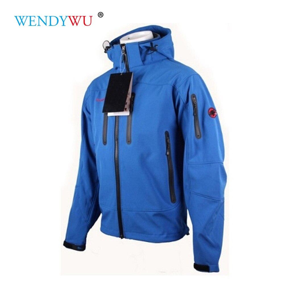 Safari Style Hooded Softshell Fleece Waterproof Hiking Jacket Motorcycle Coat Men Bomber Jackets Mountaineering Jacket A21