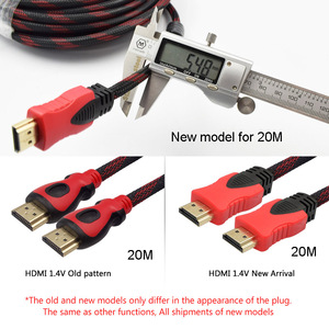 Image 2 - Cable HDMI de alta velocidad, 5m, 10m, 20M, 1,4 V, 1080P, 3D, para proyector TD96, TD90, TD60, HDTV, ordenador, enchufe chapado en oro, Cable HDMI