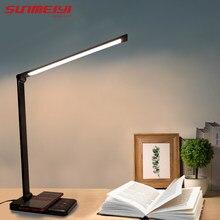 Lampe Led USB tactile à 5 niveaux réglables pour la Protection des yeux, idéale pour la chambre à coucher ou la Table de lecture