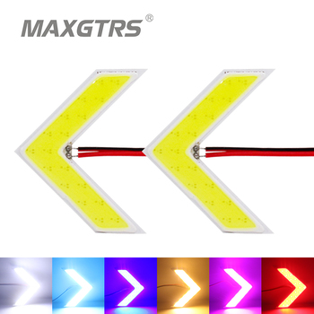 2x Car Hidden Arrow Panel COB Rearview Side Mirror Led Decorative Lights Reverse Direction Turn Signal Lamp White/Amber/Red 2 x 27w car led rearview side replacement led off road mirror turn signal lights white amber beam for jeep wrangler 07 16
