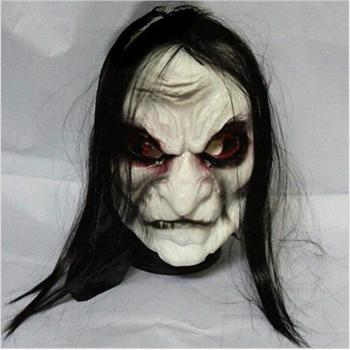 Halloween Zombie Mask Props Grudge Ghost Hedging Zombie Mask Realistic Masquerade Halloween Mask Long Hair Ghost Scary Mask halloween costume party kurten demon zombie scary vampire mask