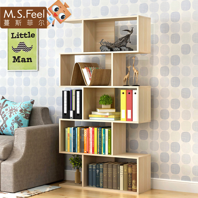 [Manufacturers Direct Selling] Minimalist Modern Free Combination Bookshelf CHILDREN'S Bookcase Creative S Type Storage Shelf